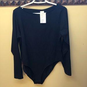 H&M black bodysuit
